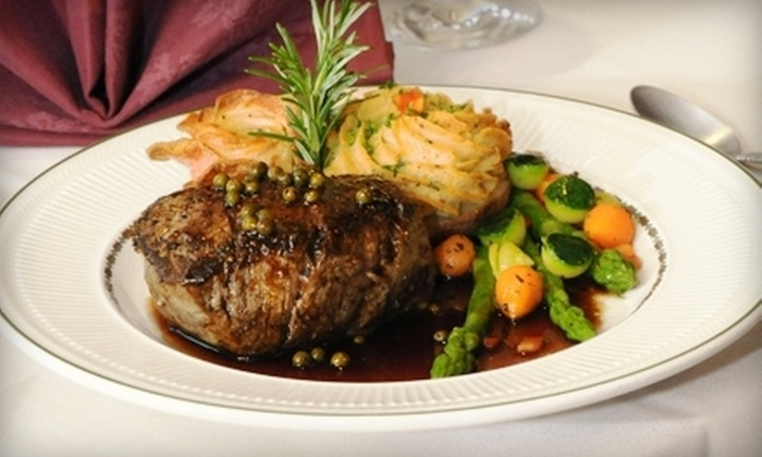 Whispering Pines Inn and Restaurant - Norman: Fine French-Continental Fare at Whispering Pines Inn and Restaurant in Norman (Half Off)