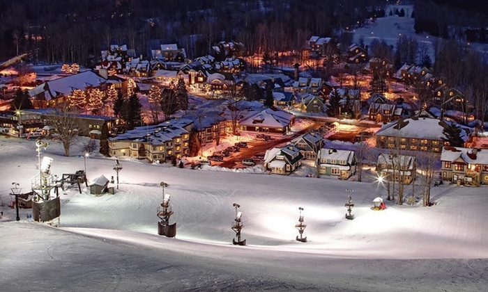 Crystal Mountain - Thompsonville, MI: One-Night Stay with Options for Ski-Lift Passes at Crystal Mountain in Northern Michigan