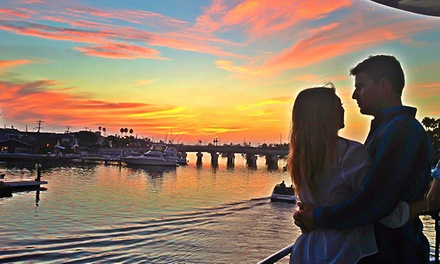 Sunset Cruise with Drinks for Two or Four from Cruise Newport Beach (Up to 57% Off)