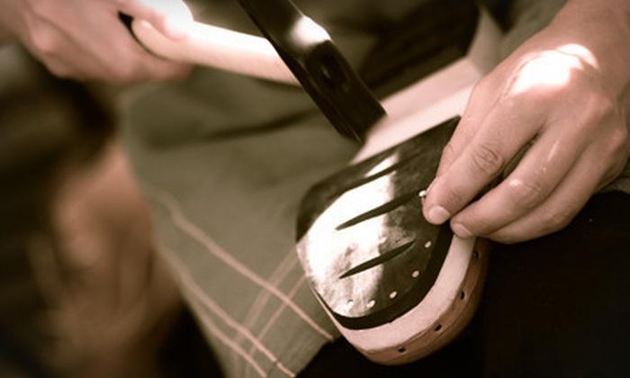 Cobbler's Bench Shoe Repair - Multiple Locations: Shoe, Handbag, or Leather-Goods Repair at Cobbler's Bench Shoe Repair (Half Off). Two Options Available.