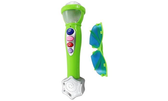Microfono con luci e suoni