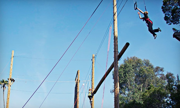 Fulcrum Adventures - Jefferson: Full-Day Ropes-Course Challenge for One or Two at Fulcrum Adventures in Culver City (Up to 77% Off)
