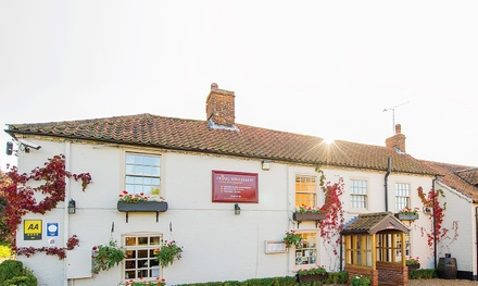 Norfolk: 1 or 2 Nights for Two with Breakfast, Dinner, Cheese Board and Wine at King William IV Country Inn & Restaurant
