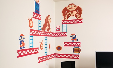 Donkey Kong or Mario Wall Stickers. Free Returns.