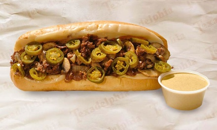 $8 for $15 Worth of Philly Cheesesteaks at Texadelphia