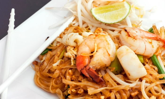 Karta Thai - Columbia Heights: Thai Dinner with Wine or Beer for Two or Four at Karta Thai (Up to 26% Off)
