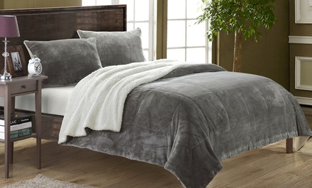 Evie 3-Piece Sherpa Comforter Set from $49.99–$59.99