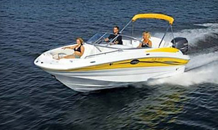 South Beach Boat Rentals - Miami: Four- or Eight-Hour Powerboat Rental from South Beach Boat Rentals (Up to 56% Off). Three Options Available.