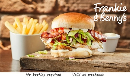 TwoCourse A La Carte Meal for Two with Optional Bottle of Wine at Frankie & Benny's, Nationwide