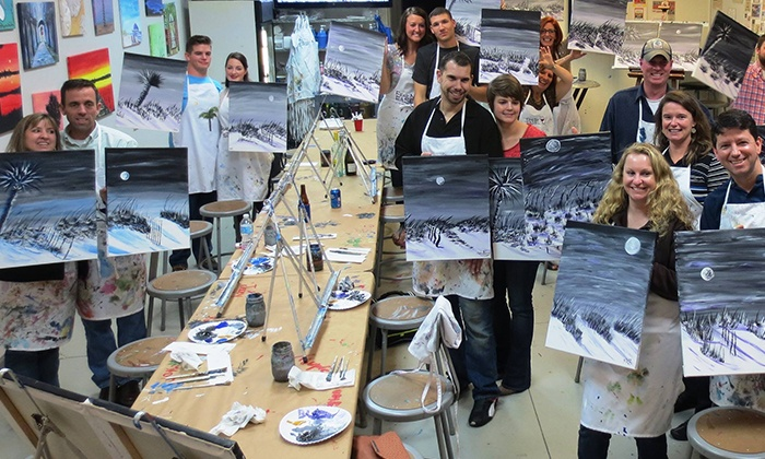 Fear No Easel - Mount Pleasant: Two-Hour Painting Class with Supplies for Two or Four at Fear No Easel (Up to 44% Off)