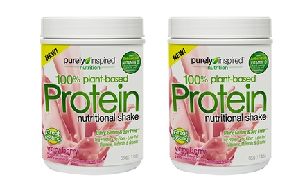 2-Pack of Purely Inspired 100% Plant-Based Berry Protein Shake