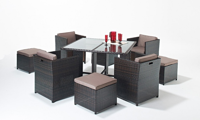 Garden furniture set groupon goods for Garden furniture set deals