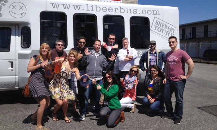 Long Island Beer Bus by Tapped Enterprises - Ronkonkoma: $159 for a Sunday Funday Beer Tour for Two from Long Island Beer Bus by Tapped Enterprises ($256 Value)