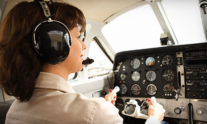 Aztec Flying Services - Henderson Executive Airport: Introductory Flying Lessons from Aztec Flying Services (Up to 60% Off). Three Options Available.