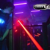 Partie de laser game avec baby-foot, air hockey ou basket