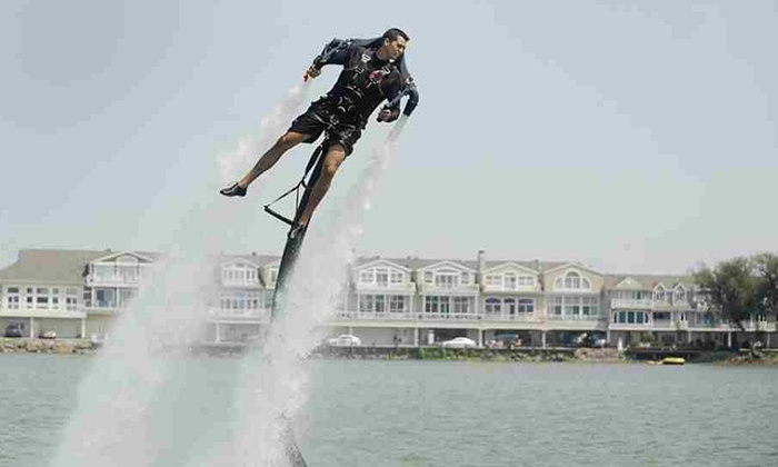Jet Pack Water Adventures - Multiple Locations: 30-Minute Water-Jetpack Flight with Instruction for One or Two at Jet Pack Water Adventures (Up to 52% Off)