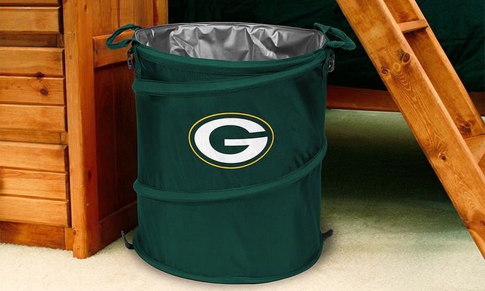 Nfl 3 In 1 Collapsible Hamper Cooler Trash Can Groupon