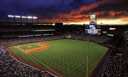 One Ticket to a Colorado Rockies Game at Coors Field (Up to 46% Off).  Two Seating Options and Six Games Available.