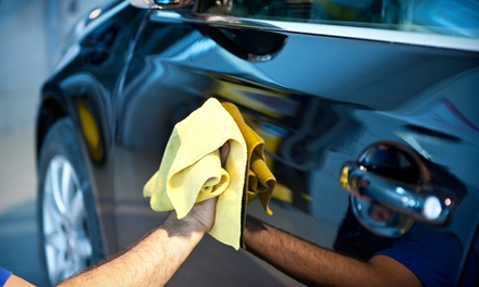 Mini Valet and Full Hand Wax Polish or Full Valet at Topgear Carwash (Up to 56% Off)