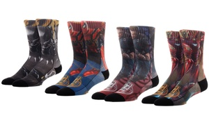 Marvel Avengers Men's Sublimated Crew Socks (4-Pack)