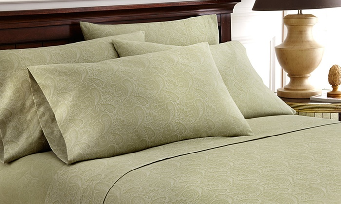 Cavendish Royal Paisley Collection 6-Piece Sheet Sets: Cavendish Royal Paisley Collection 4- or 6-Piece Sheet Sets (Up to 73% Off). Multiple Colors. Free Shipping and Returns.