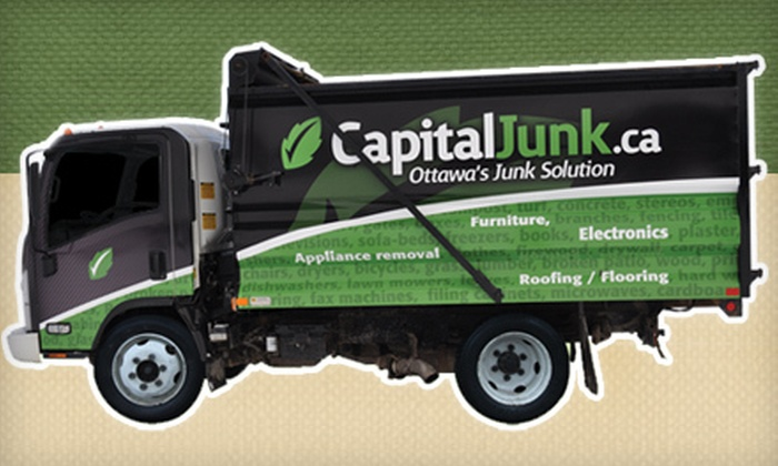 CapitalJunk.ca - Merivale Gardens - Grenfell Glen - Pineglen - Country Place: 1/4 Truckload or 1/2 Truckload of Full-Service Junk Removal from CapitalJunk.ca (55% Off)