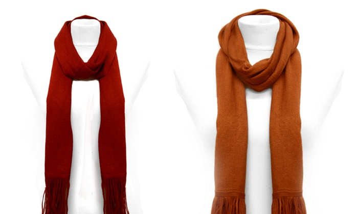 K&J Long Winter Scarves: K&J Long Winter Scarf. Multiple Colors Available. Free Returns.
