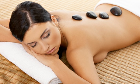 60-Minute Hot-Stone Aromatherapy Massage with Optional Anti-Aging Collagen Facia...
