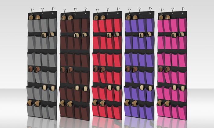 Marvelous 24 Pocket Over The Door Shoe Organizer ...