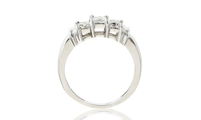 1 Ct. Princess-Cut Diamond Engagement Ring: 1-Carat Princess-Cut Diamond Engagement Ring in 14-Karat Gold. Free Shipping.