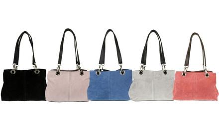Donna Suede Shoulder Bag