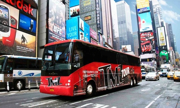 TMZ Tour NYC - Midtown South Central: $30 for a Priority Seat on the TMZ Tour NYC, Partnered with On Location Tours ($60 Value)
