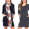 Women's Midi Dress with Side Pockets