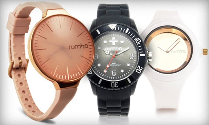 RumbaTime: Sporty and Stylish Silicone Watches from RumbaTime (Up to 55% Off). Two Options Available.