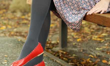 groupon daily deal - Tabbisocks Opaque Tights 2-Pack