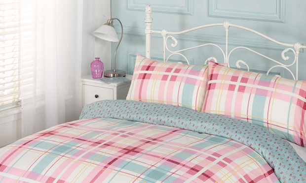 Easy Care Reversible Duvet Sets Groupon Goods