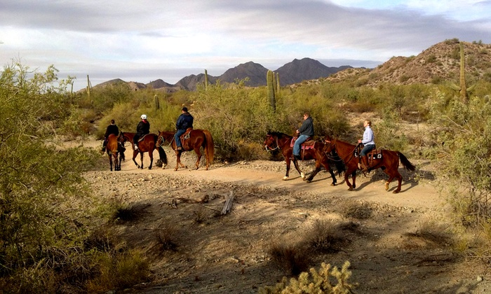 MD Ranch - Queen Creek: Two-Hour Sunset Trail Ride for Two or Four or Three-Hour Dinner Trail Ride for Two from MD Ranch (Up to 56% Off)