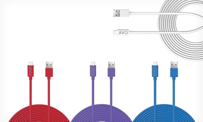 Jivo 10-Foot Lightning to USB Power + Apple-Certified Sync Cable: $17.99 for a Jivo 10-Foot Lightning to USB Power + Sync Cable for Select Apple Devices ($29.99 List Price). Free Returns