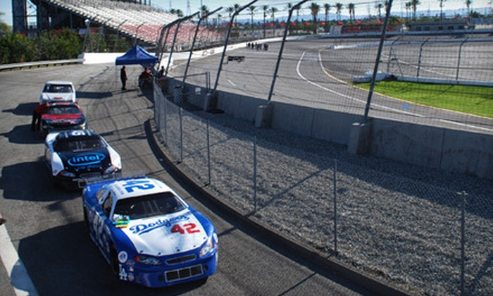 L.A. Racing - Irwindale: 20-Lap Stock-Car Racing Experience at for One or Two from L.A. Racing (Up to 65% Off)