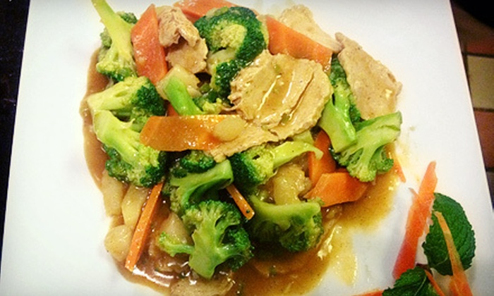 Veggie Fun - Downtown Providence: Vegan Asian Meal for Two at Veggie Fun (Up to 51% Off). Two Options Available.