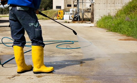 Pressure Washing of a One- or Two-Car Driveway from Royal Painting Services (Up to 60% Off)