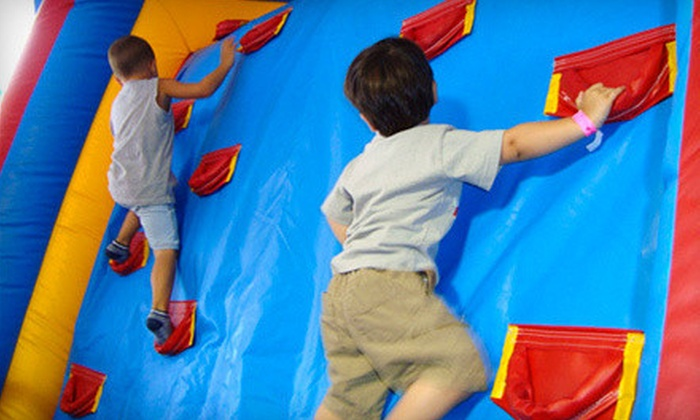 Long Island's Laser Bounce - Levittown: Bounce, Ballocity, or Laser Tag with Food and Tokens at Long Island's Laser Bounce (51% Off). Two Options Available.