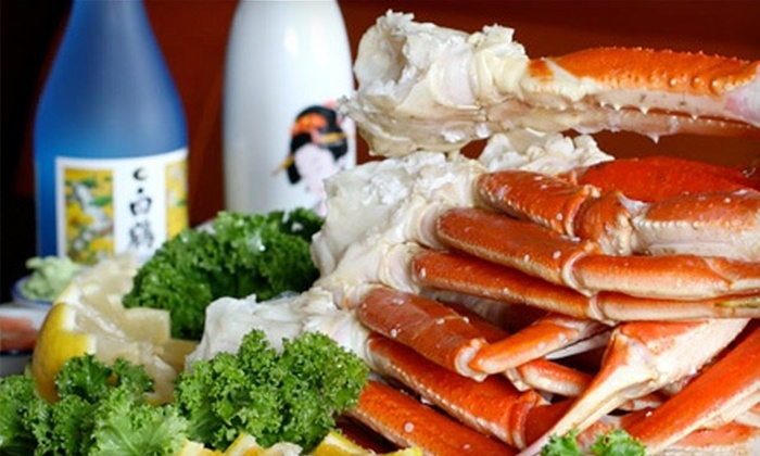 Hokkaido Seafood Buffet - Newport Beach: $25 for Seafood Meal with Wine or Beer for Two at Hokkaido Seafood Buffet (Up to $48.98 Value)