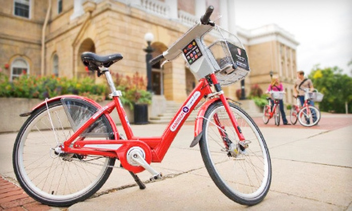 Madison B-cycle: Annual Bike Share Membership for One or Two from Madison B-cycle (Up to 58% Off)
