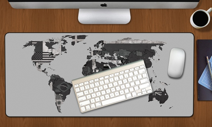 Up To 60 Off World Map Mouse Mat Pad Groupon