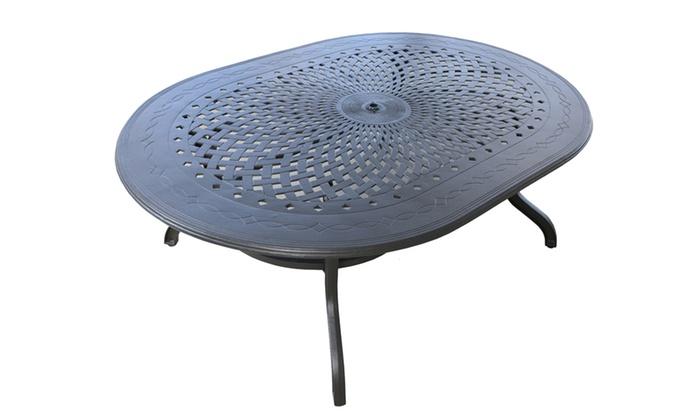 Cast Aluminum Patio Tables Dhc Furniture Groupon