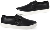 Deals on Steve Harvey Mens Buckle Slip-On Sneakers