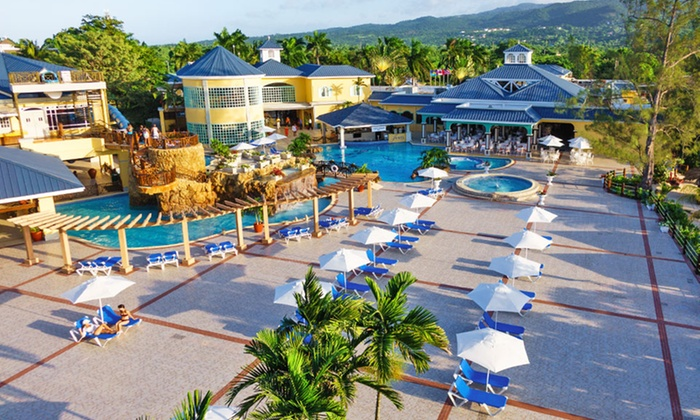 Jewel Paradise Cove Beach Resort Stay with Airfare from Vacation Express - Runaway Bay, Jamaica: All-Inclusive Jewel Paradise Cove Stay with Airfare. Includes Taxes and Fees. Price/Person Based on Double Occupancy.