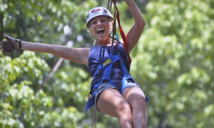 Eagle Falls Ranch - Eminence: Zipline Adventure for One, Two, or Four at Eagle Falls Ranch (Up to 60% Off)