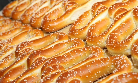 Three, Five, or Nine Groupons, Each Valid for 25 Pretzels at Philly Soft Pretzel Factory (Half Off)